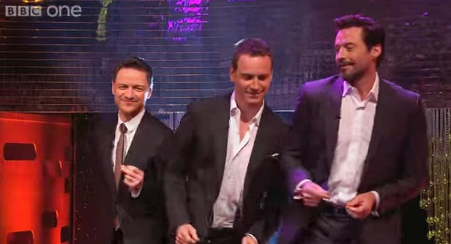 Hugh Jackman, Michael Fassbender & James McAvoy dance to Blurred Lines