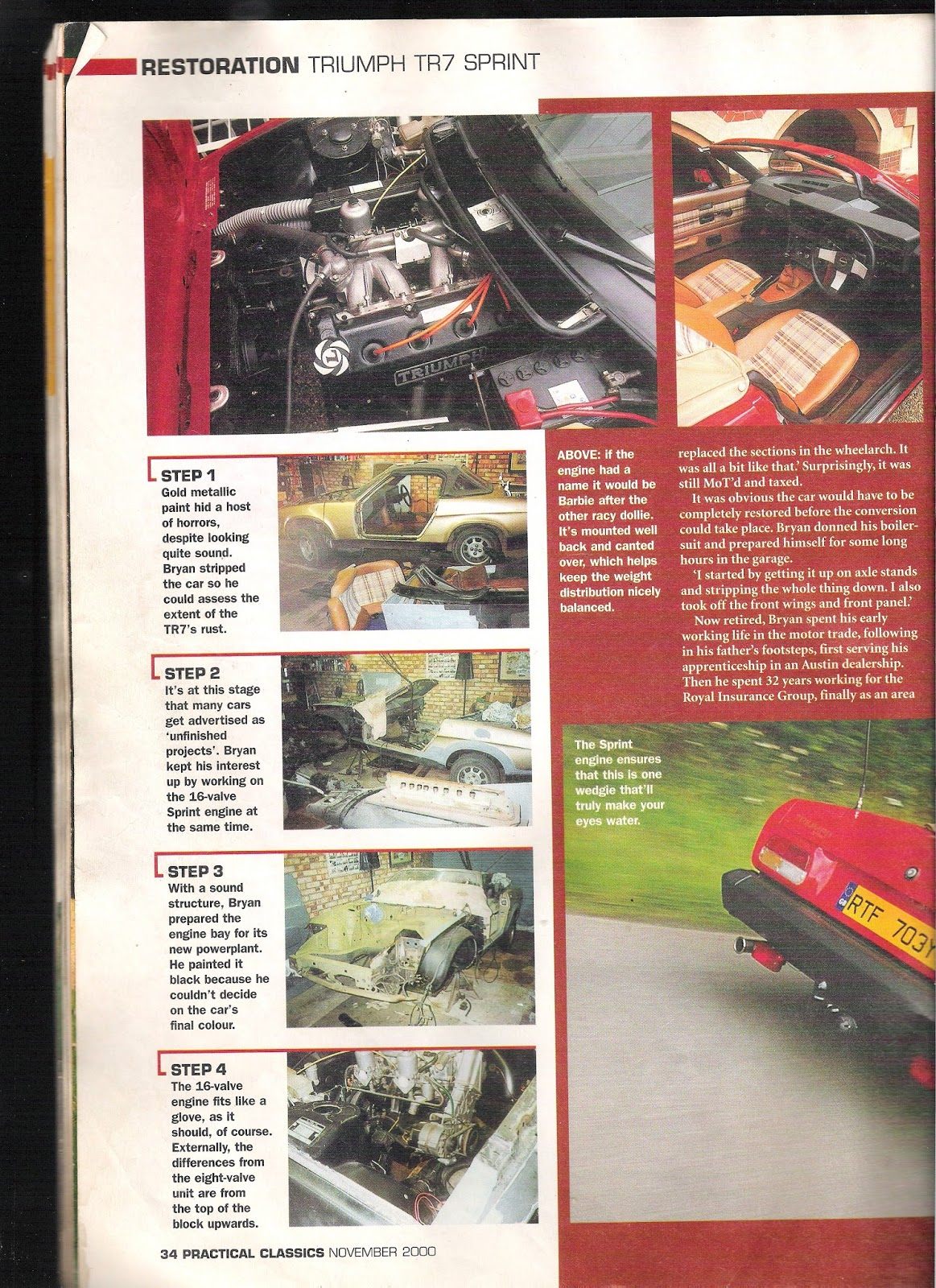 Vitessesteve Blog 2013 Triumph Tr7 Color Wire Diagrams The Original Build Of My Sprint Was Featured In Practical Classics November 2000