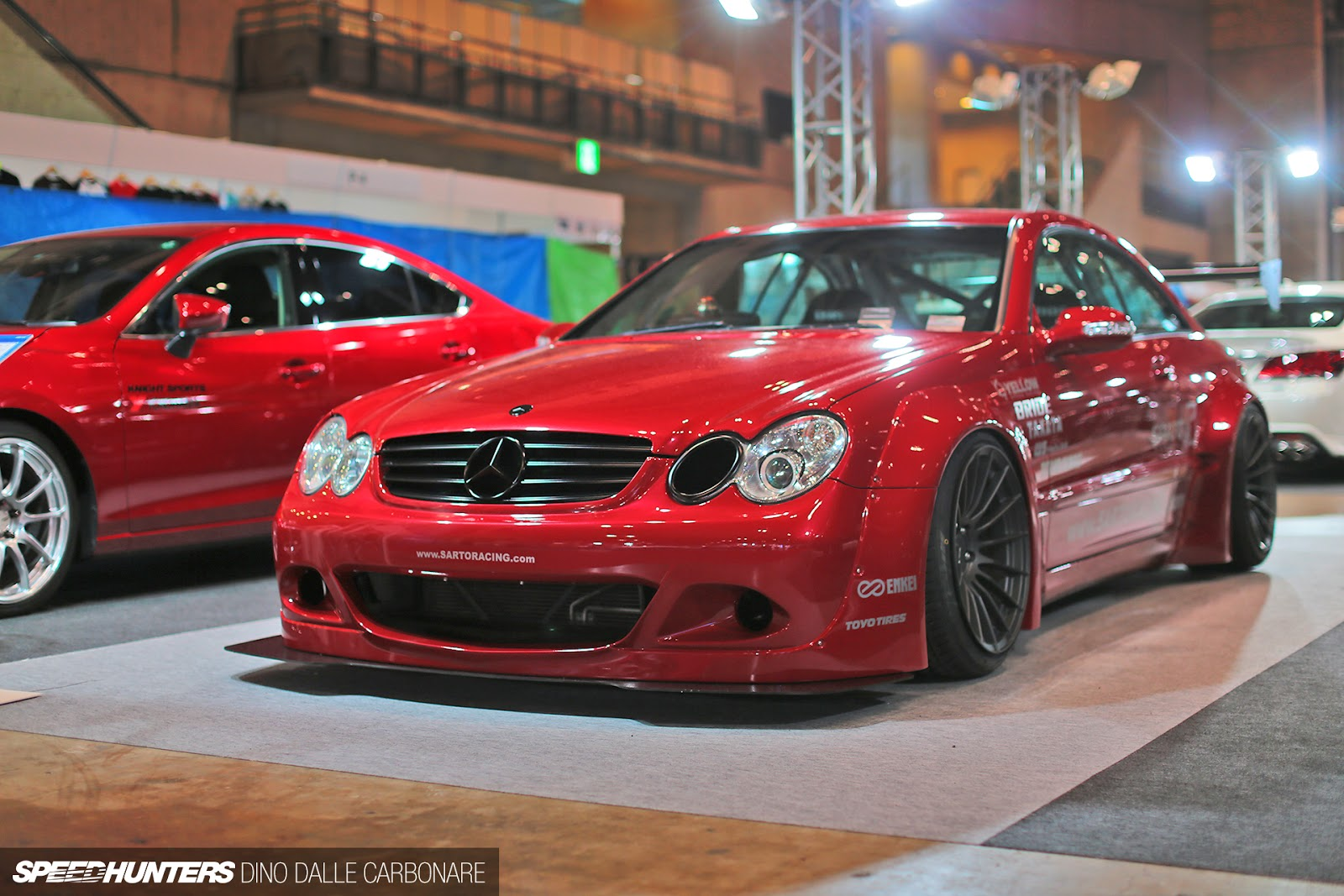 Mercedes Benz Clk63 Rocket Bunny Widebody Red Benztuning