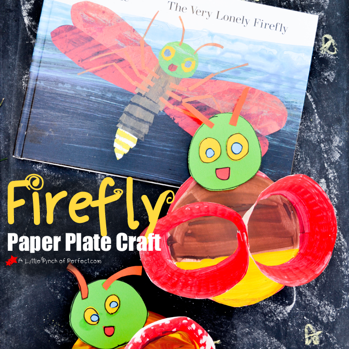Thanks for learning with us today! Please click here to sign up for our weekly newsletter and follow us on Facebook Pinterest Twitter and Youtube. & Firefly Paper Plate Craft Inspired by Eric Carle -