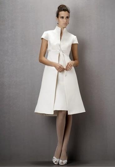 vestido corto de novia