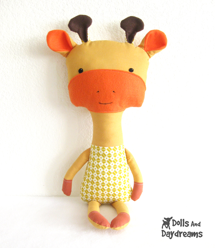 Diy Giraffe Toy Giraffe Softie Stuffed Toy