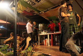 A roof garden party at Jaaga