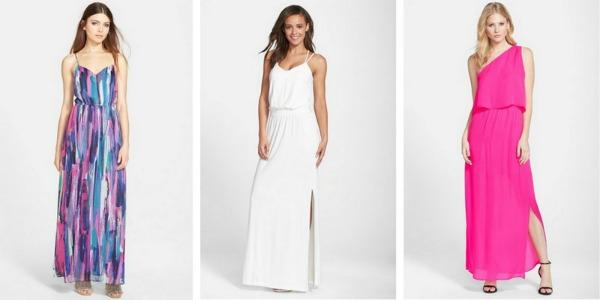 Lauren conrad one shoulder maxi dress