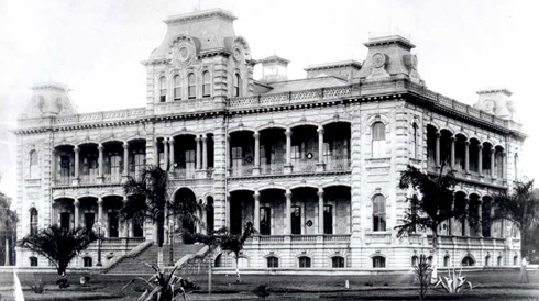 iolani palace archival hawaii pictures