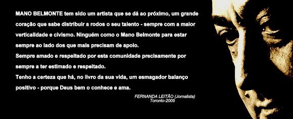 Mano Belmonte 50 anos de palco...