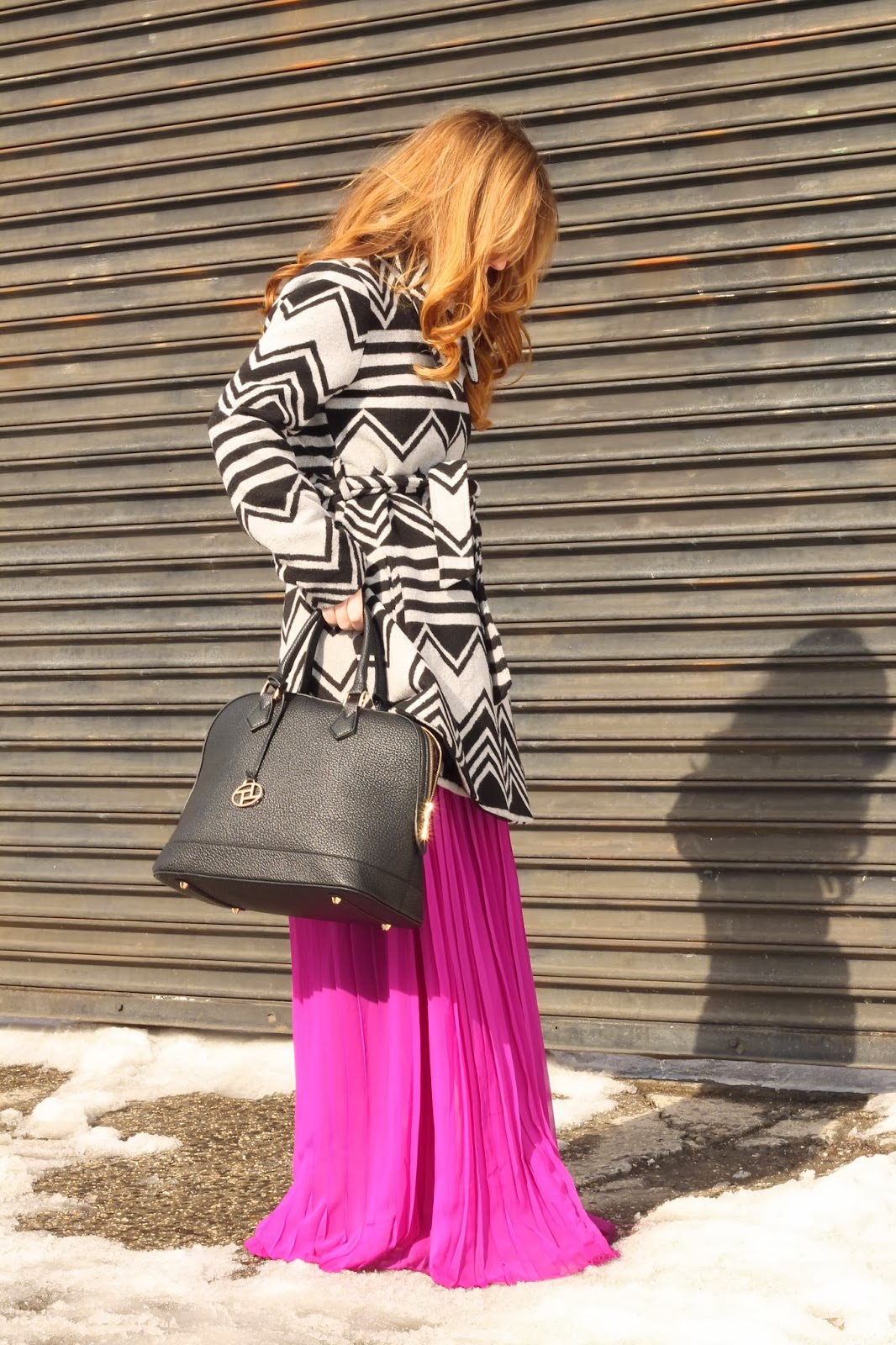 pleated maxi skirt style