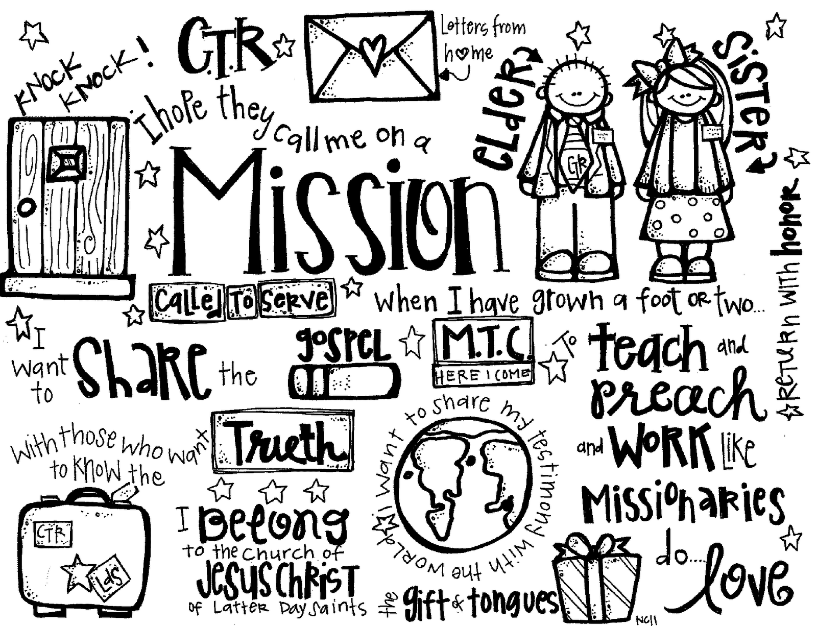 Melonheadz LDS illustrating Missionaries Handout