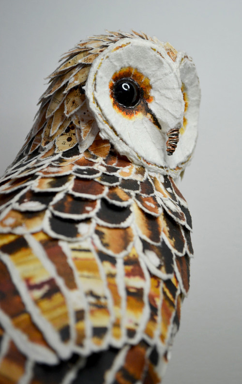my owl barn  paper sculptures by suzanne breakwell