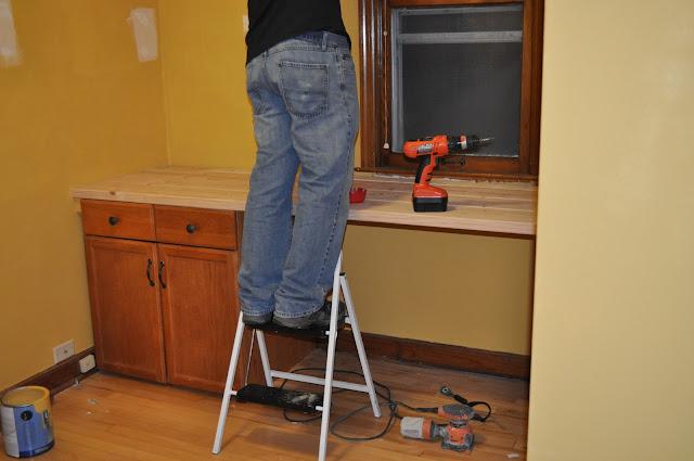 Desk, Office Project, 2x4 Desk, paint, DIY