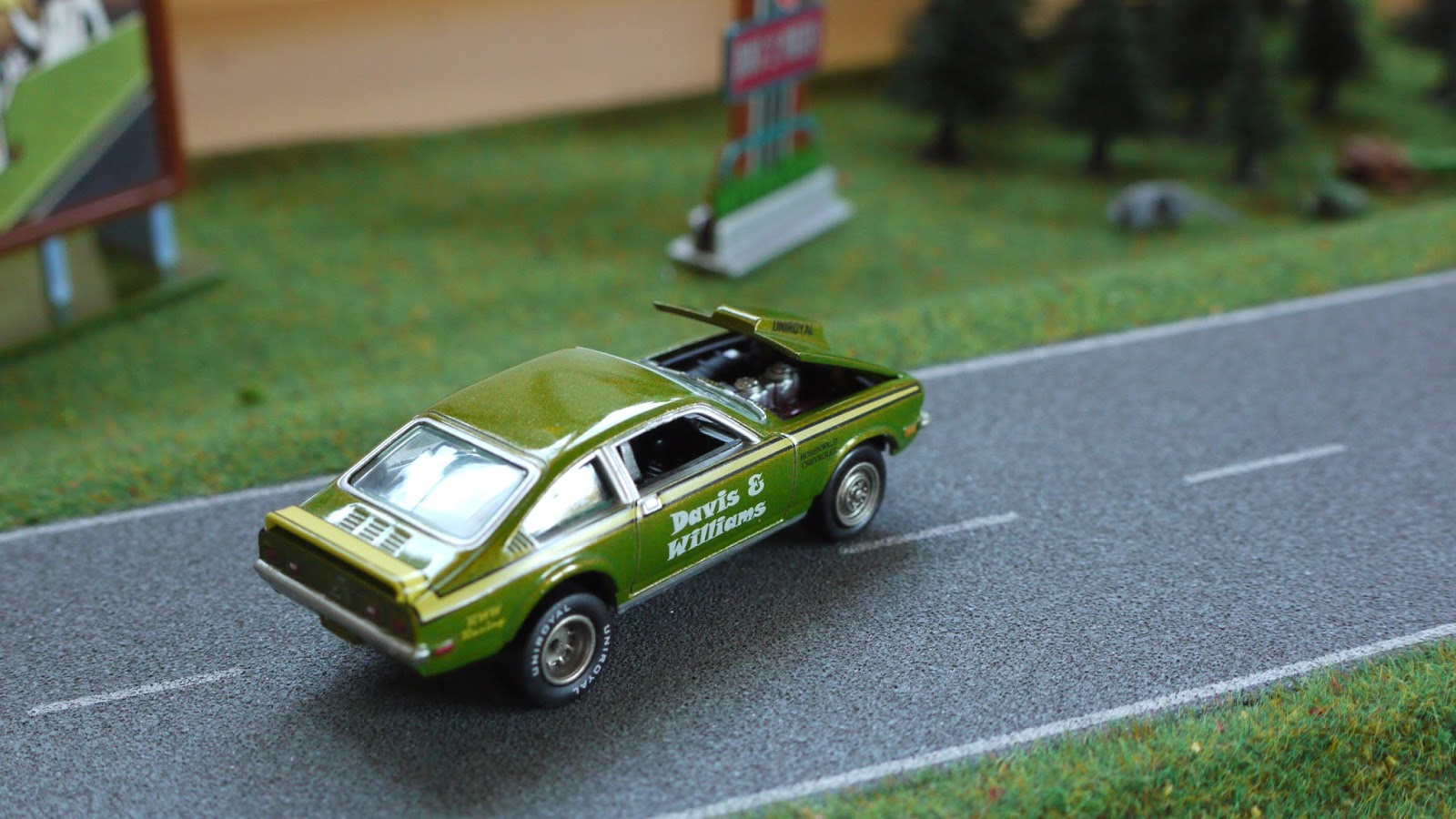Diecast cars 1/64, Modellautos 1:64, Modellbilar 1:64: Chevrolet Vega