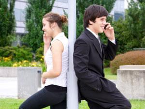 Fill Long Distance Relationship With Romance! - man and woman talking on the phone - mobile