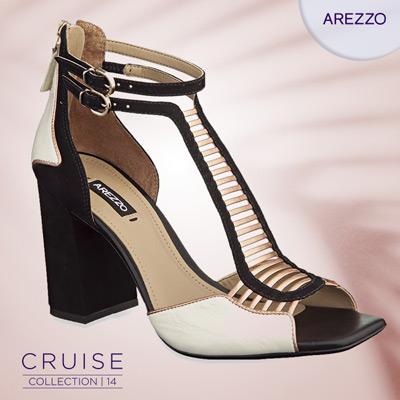 sandálias tendências p&b e metalizado Arezzo verão 2014