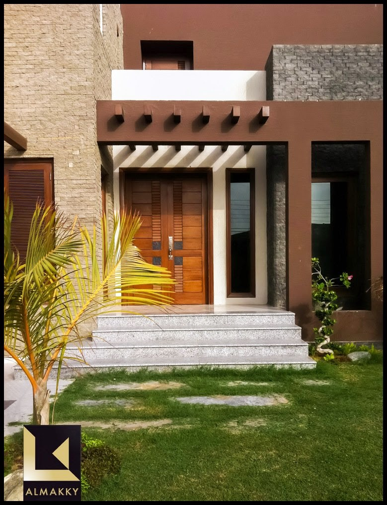 House Front Elevation Materials : Almakky builders constructed modern contemporary home