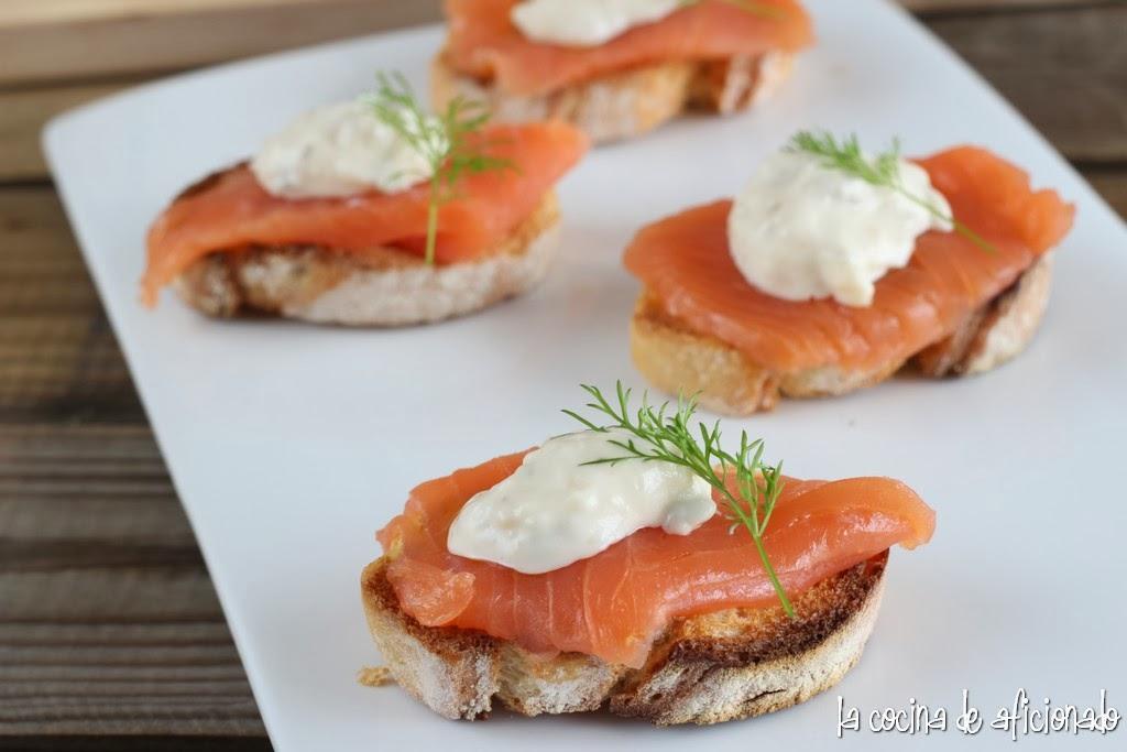 Enero 2014 blog de prueba for Canape de salmon ahumado