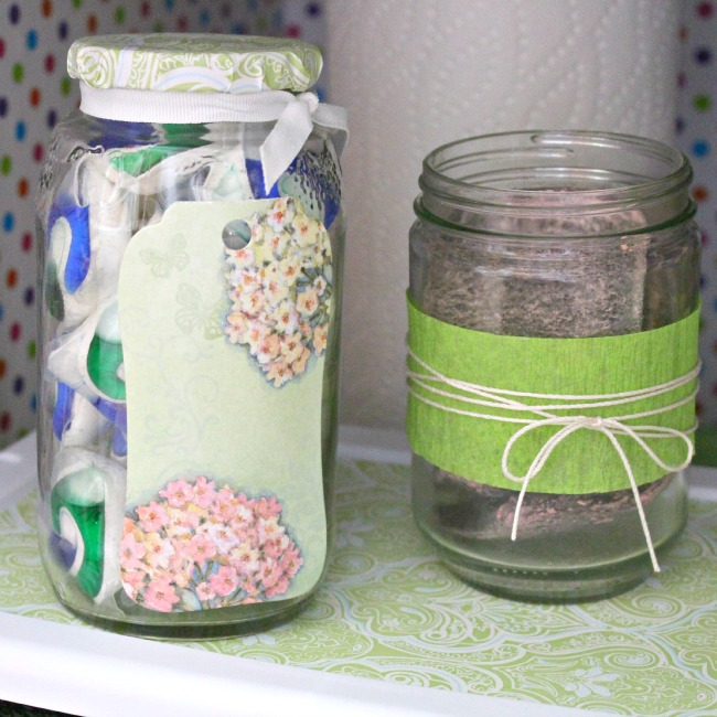Cute+jars+for+my+under+the+sink+makeover