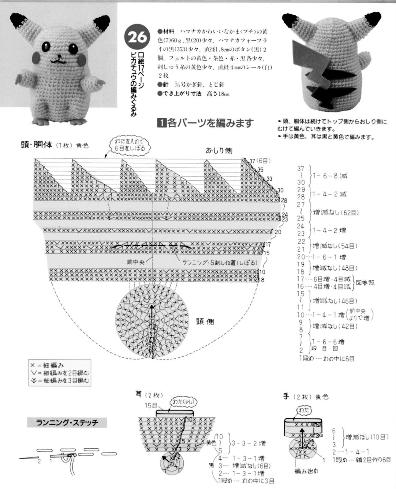 cosquecrochet: Pikachu