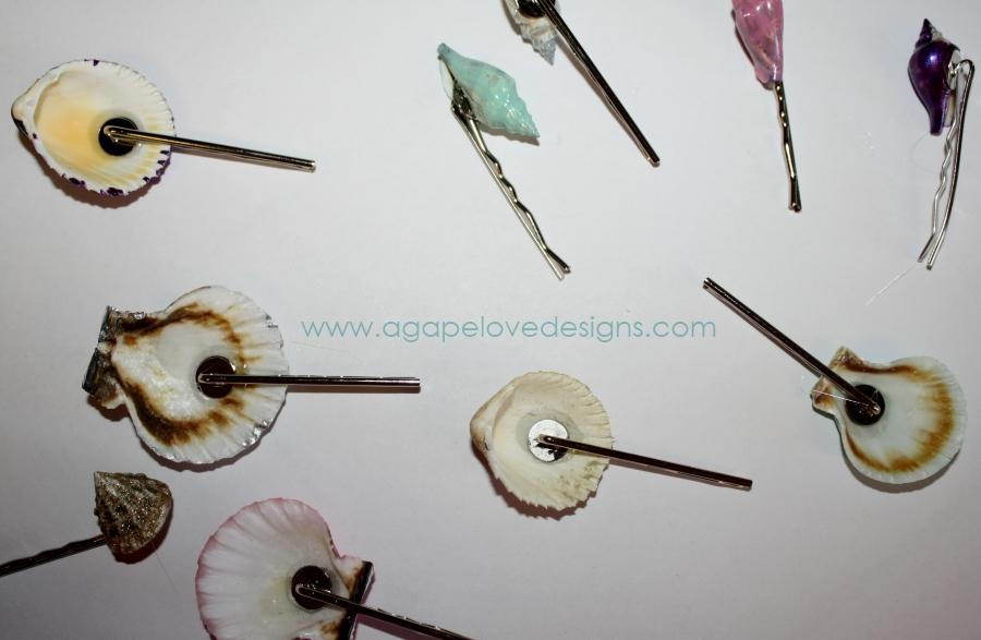 Agape Love Designs Diy Sea Shell Hair Clips