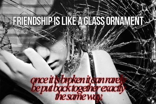 One Line Quotes On Broken Friendship : I ll shrink n smile old friends from the past and moving on