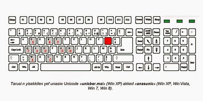 لوحة مفاتيح امازيغية