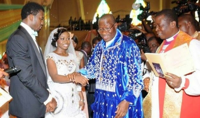 President Goodluck on Daughter's Wedding