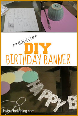 DIY Confetti Birthday Banner