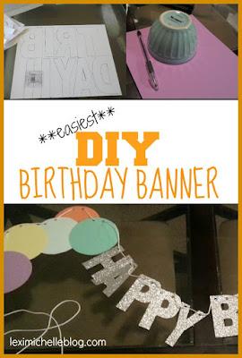 DIY Confetti Birthday Banner