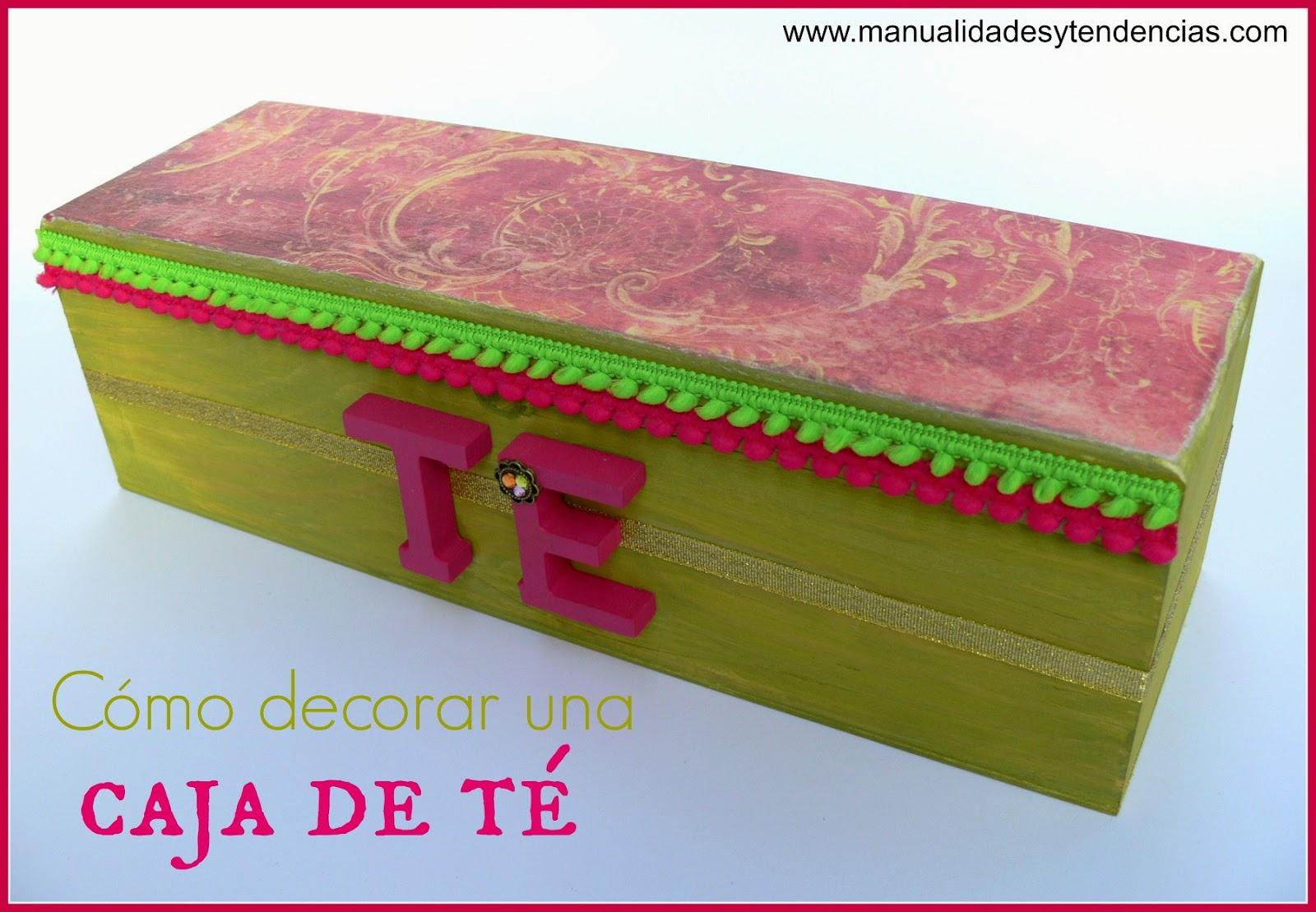 Manualidades y tendencias c mo decorar una caja de t - Como decorar una caja de madera ...