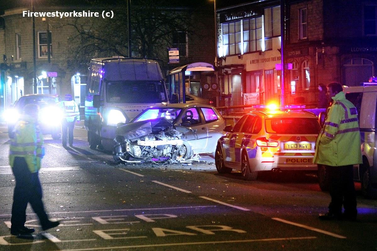 Car Crash, RTC, Cleckheaton, Fiat