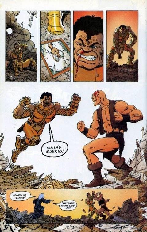 Gilgamesh e Otto se estranham
