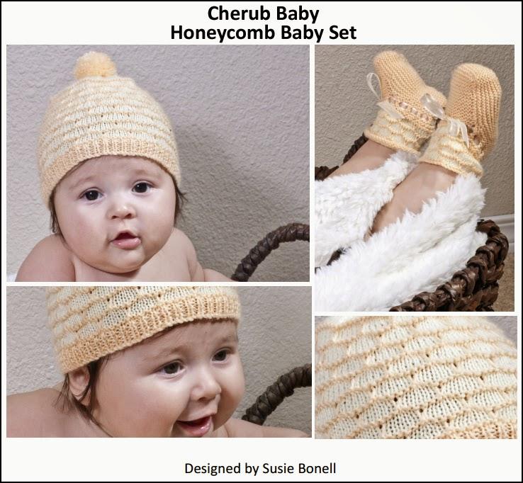 Cherub Baby Honeycomb Baby Set -  FREE Pattern by Cascade Yarns
