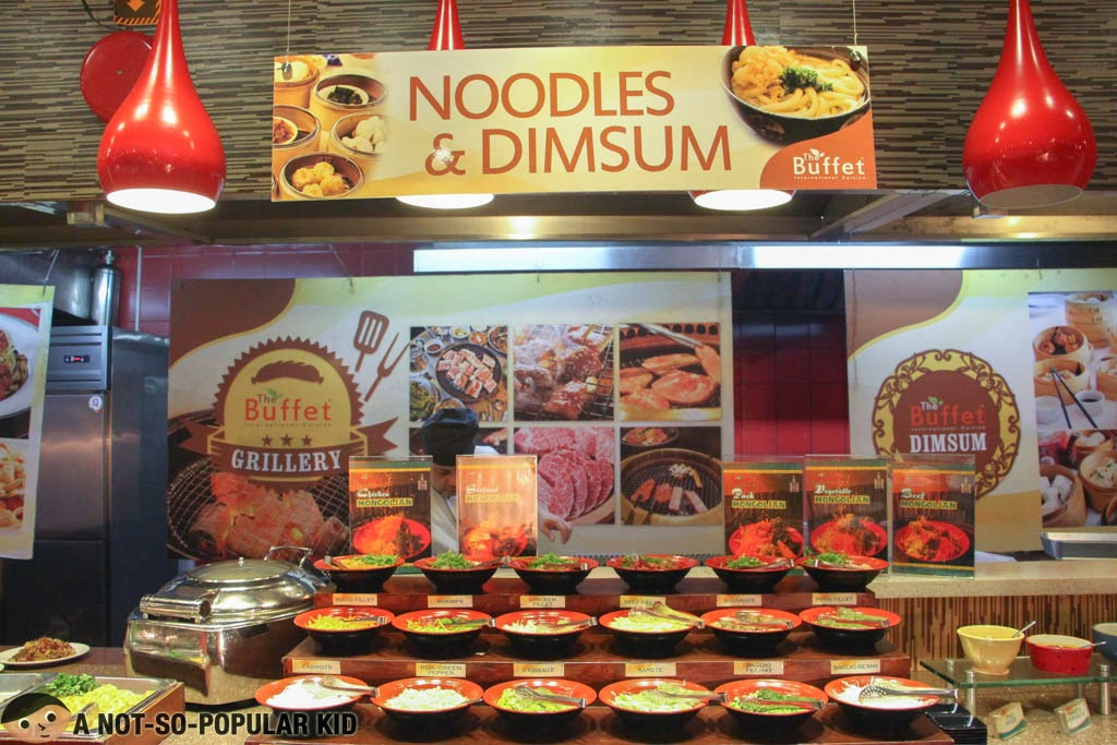 Noodles and Dimsum in The Buffet