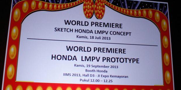Peluncuran Honda LMPV Terbaru
