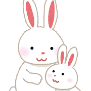 ウサギの親子のイラスト