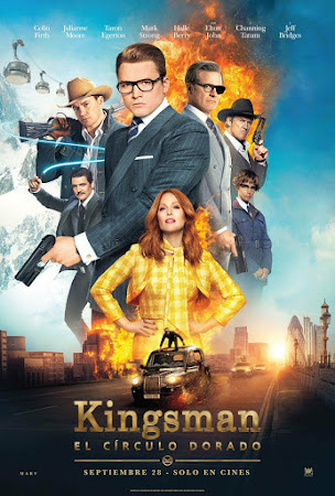 Poster Of Free Download Kingsman: The Golden Circle 2017 300MB Full Movie Hindi Dubbed 720P Bluray HD HEVC Small Size Pc Movie Only At pueblosabandonados.com