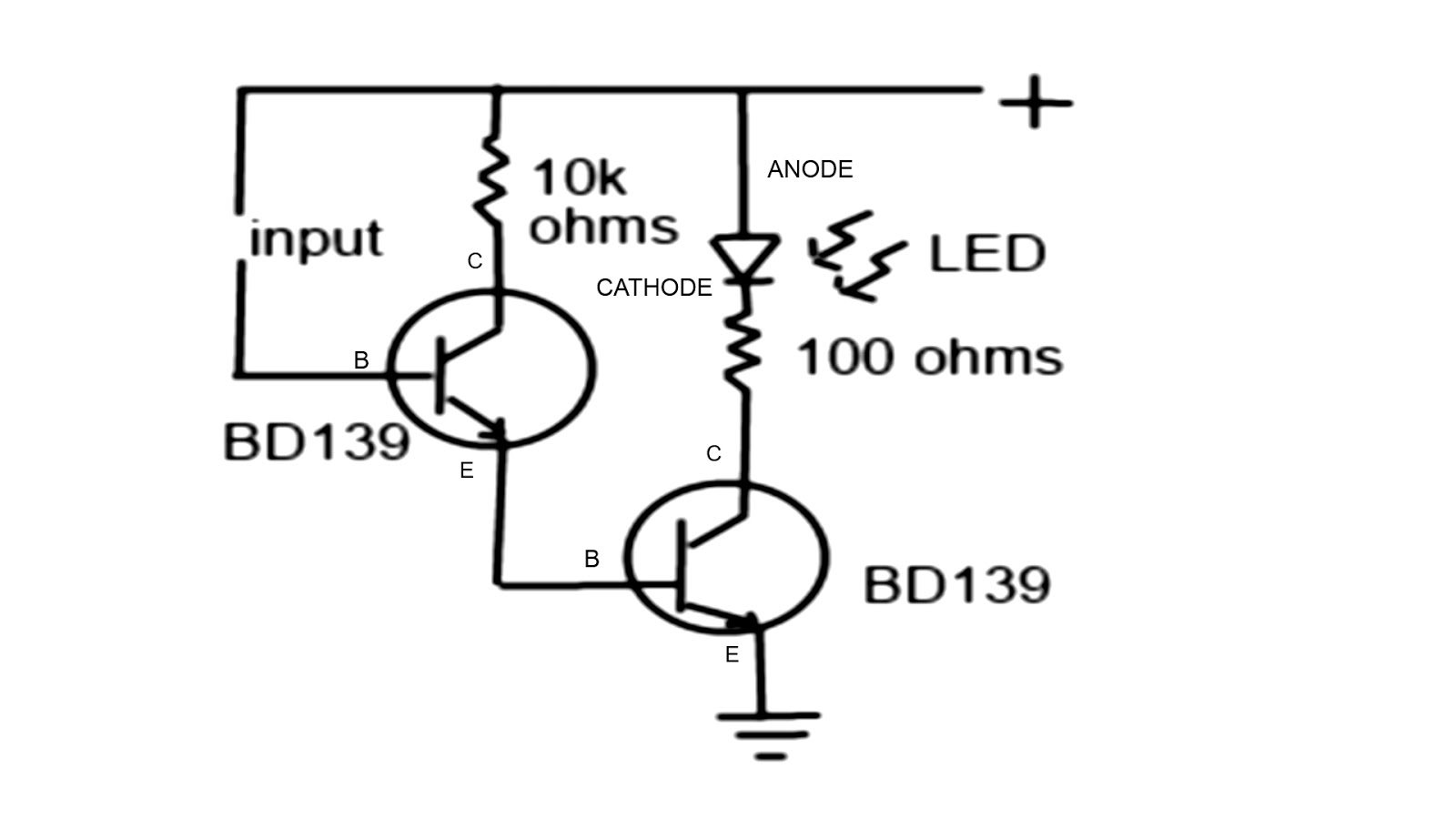 low volts simple circuit water detector