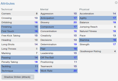 FM14 Player attribute Shadow Striker