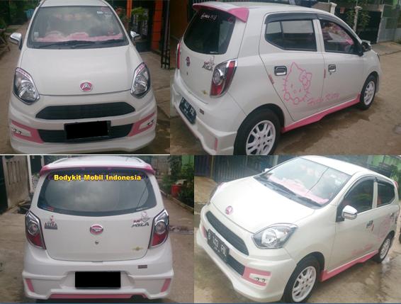Bodykit M Sporty White Pink Cewek Buanget