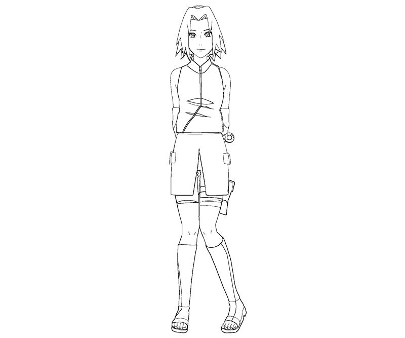 sakura haruno coloring pages - photo#6
