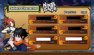 Cheat EXP + Gold Ninja Saga Level 1-80 Permanent