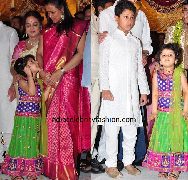 Namrata Shirodkar along with her Kids Gautham and Sitara