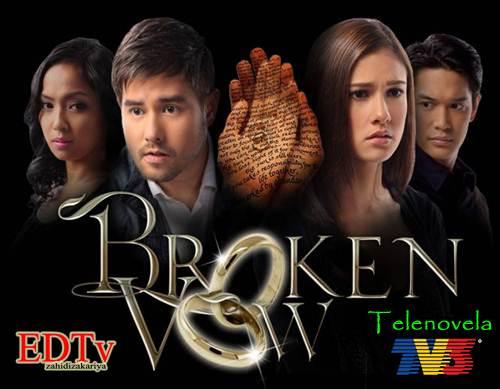 Broken Vow atau dalam Bahasa Melayu, Sumpah Patah. Pelakon dari kiri ...