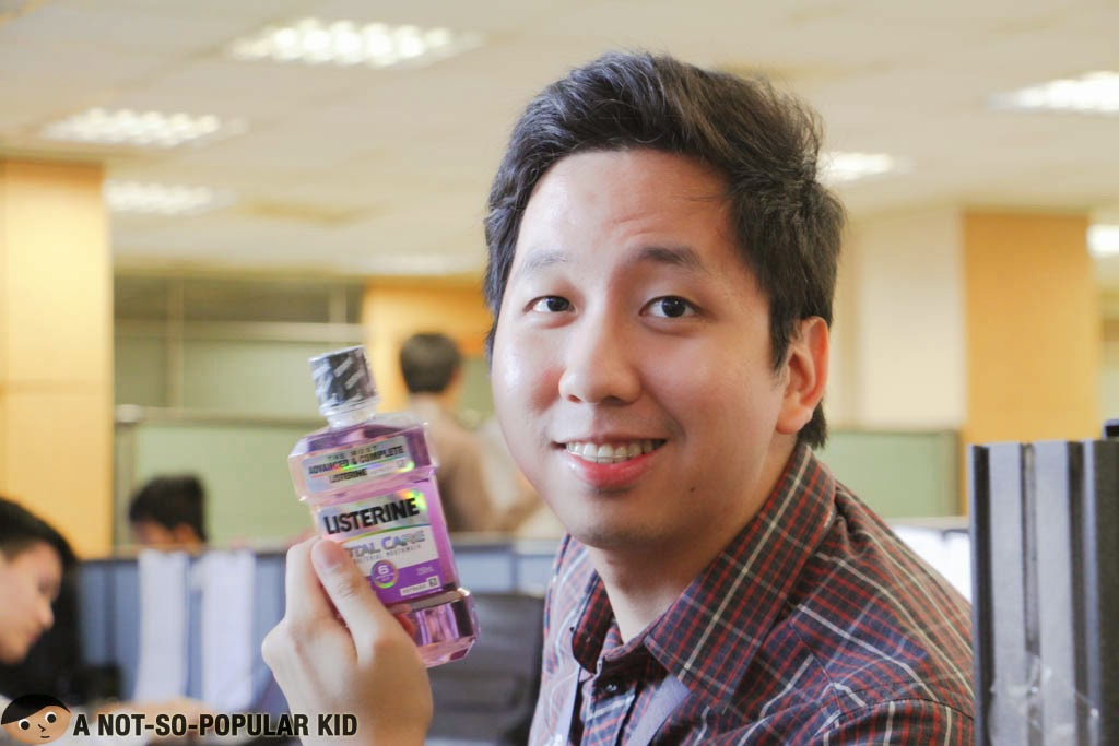 Renz Kristofer Cheng and Listerine
