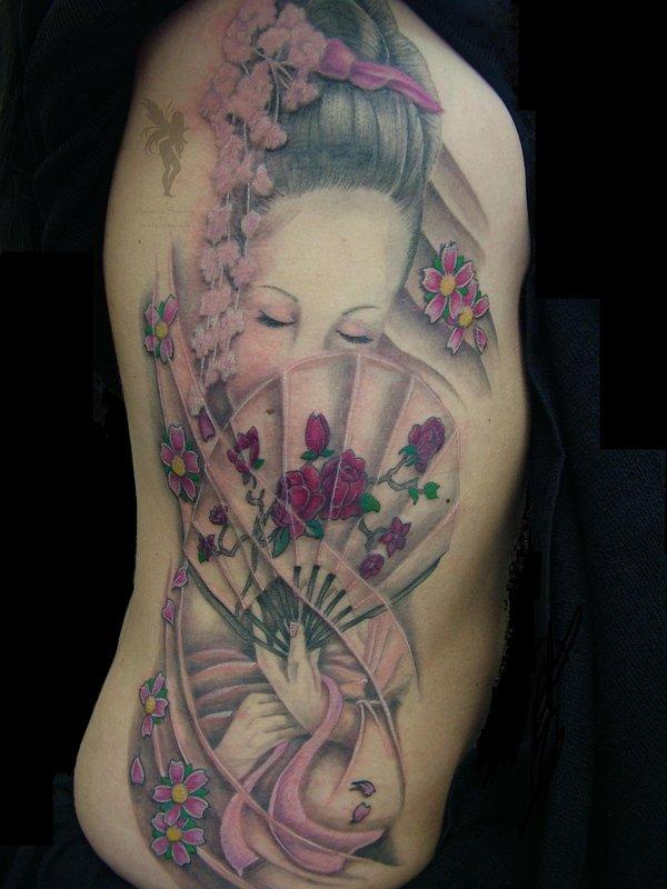 As Melhores Tatuagens Gueixa Abc Tattoo 600x800px