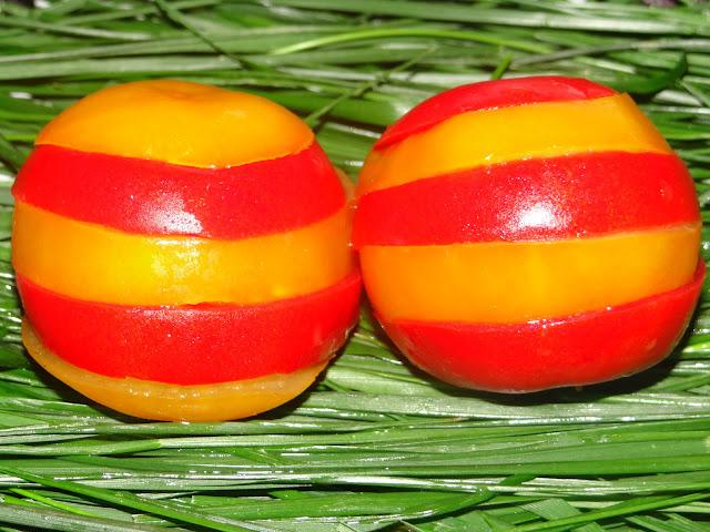 pomodori decorati