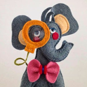 Buy Handmade | Christmas Gift Guide For Children - Elephant with Monicle