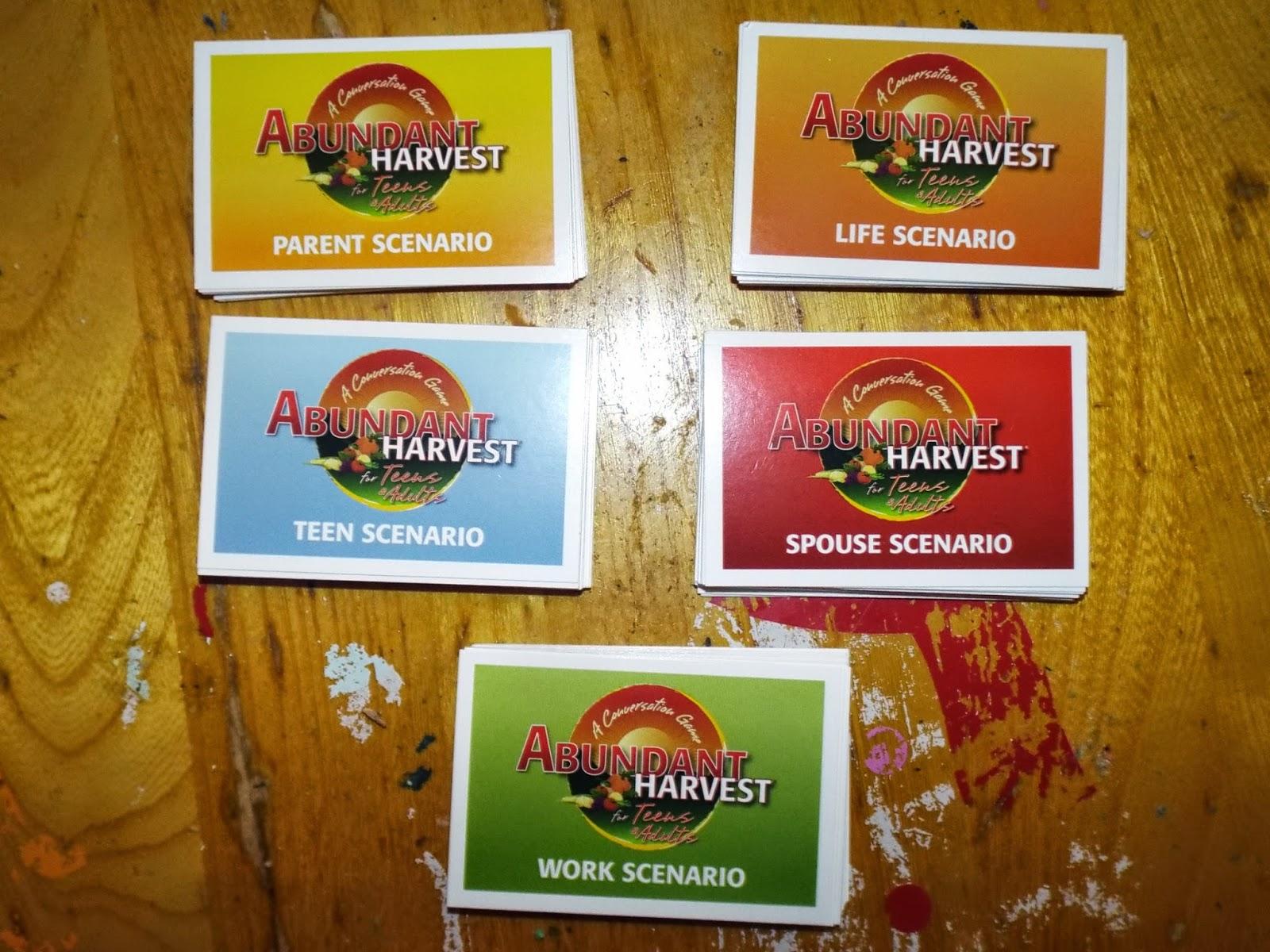 Abundant Harvest:  Scenario Cards