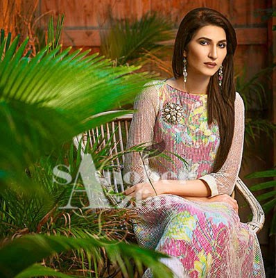 Sanober Azfar Winter Dresses Collocation 2014-15