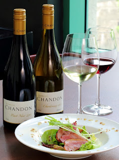 Smoked duck salad, Bubbly Afternoon with Chandon, EGG, Chandon, Chandon Brut, Chandon Rose, Chardonnay 2013, Pinot Noir 2013, Shiraz 2012, Domaine Chandon, Eight Gourmets Gala, EGG,