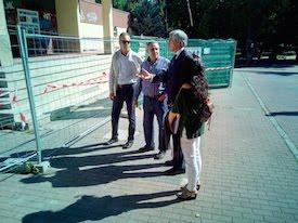 El alcalde de Ávila visita las obras del pabellón de San Antonio